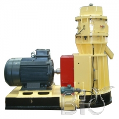 Three taper rollers flat die wood pellet machine