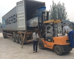 Australia clients pellet production line loading and shipping Finished