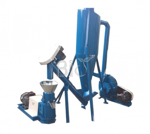 Small hammer mill pellet mill plant for home use